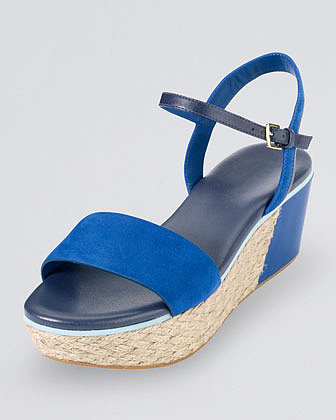 Cole Haan Arden Nubuck Wedge Sandal, Empire Blue