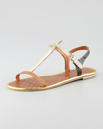 Juicy Couture Alana Starfish Flat Sandal