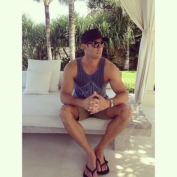 Jennifer posted a photo of her new husband in Bali. Source: Instagram user jenhawkins_