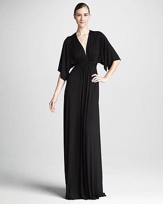 Rachel Pally Solid Black Caftan Maxi Dress, Women's