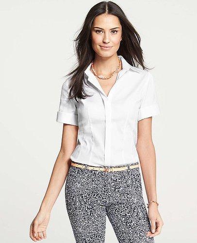 Tall Perfect Stretch Cotton Short Sleeve Shirt