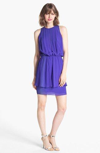 Nicole Miller Blouson Peplum Dress