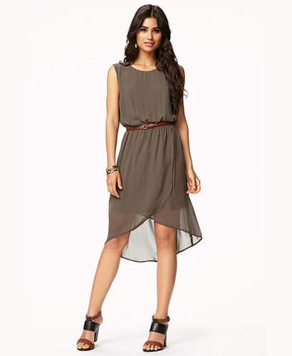 FOREVER 21 Georgette Shift Dress w/ Belt