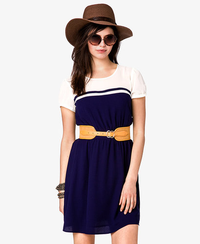 FOREVER 21 Chiffon Colorblocked Dress