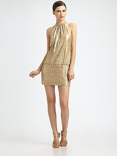 Laundry by Shelli Segal Sequined Ring-Neck Mini Dress