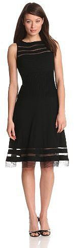 Adrianna Papell Women's Ponte Illusion Detail Dress