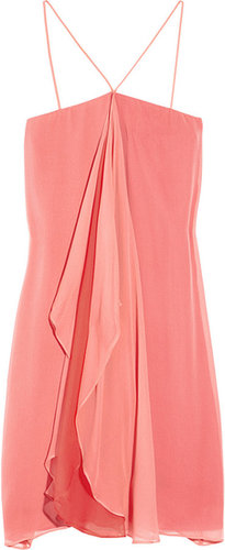 Halston Heritage Waterfall silk-chiffon dress