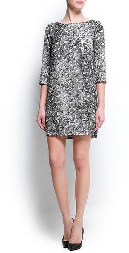 Studs digital print dress