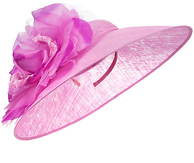 John Lewis Mia Large Disc Hat Fascinator, Magenta
