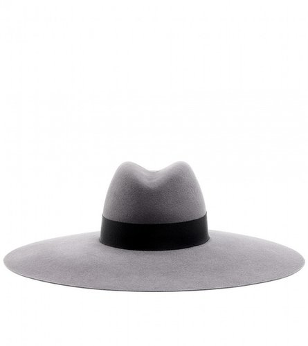 Saint Laurent WIDE BRIMMED FELT FEDORA