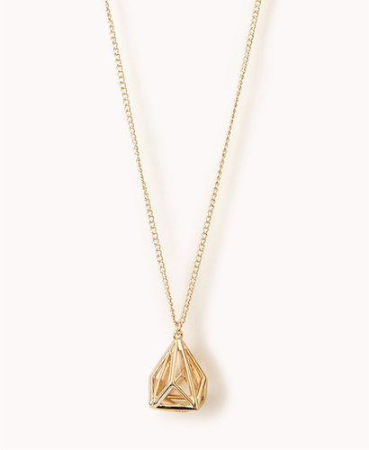 FOREVER 21 Cutout Geo Necklace