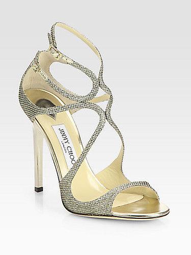 Jimmy Choo Lance Lamé Glitter Sandals