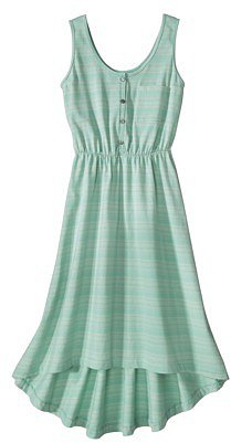 Merona® Women's High-Low Dress -Green Stripe