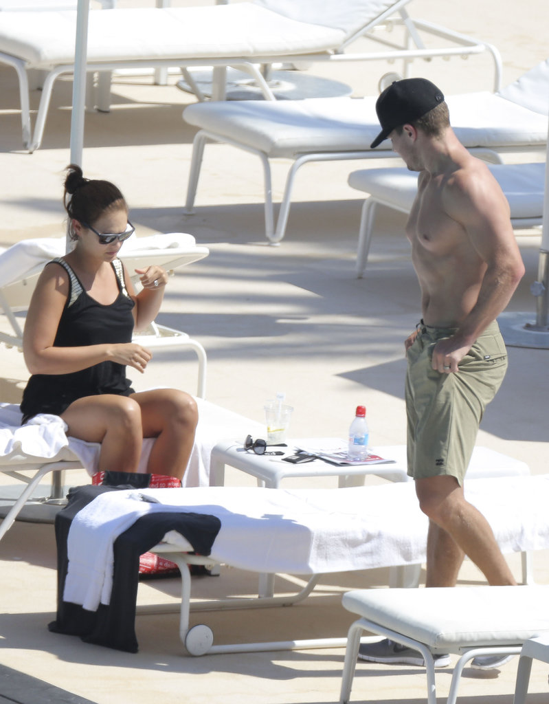 The newlyweds spent some time in the sun on Thursday in Monaco.
