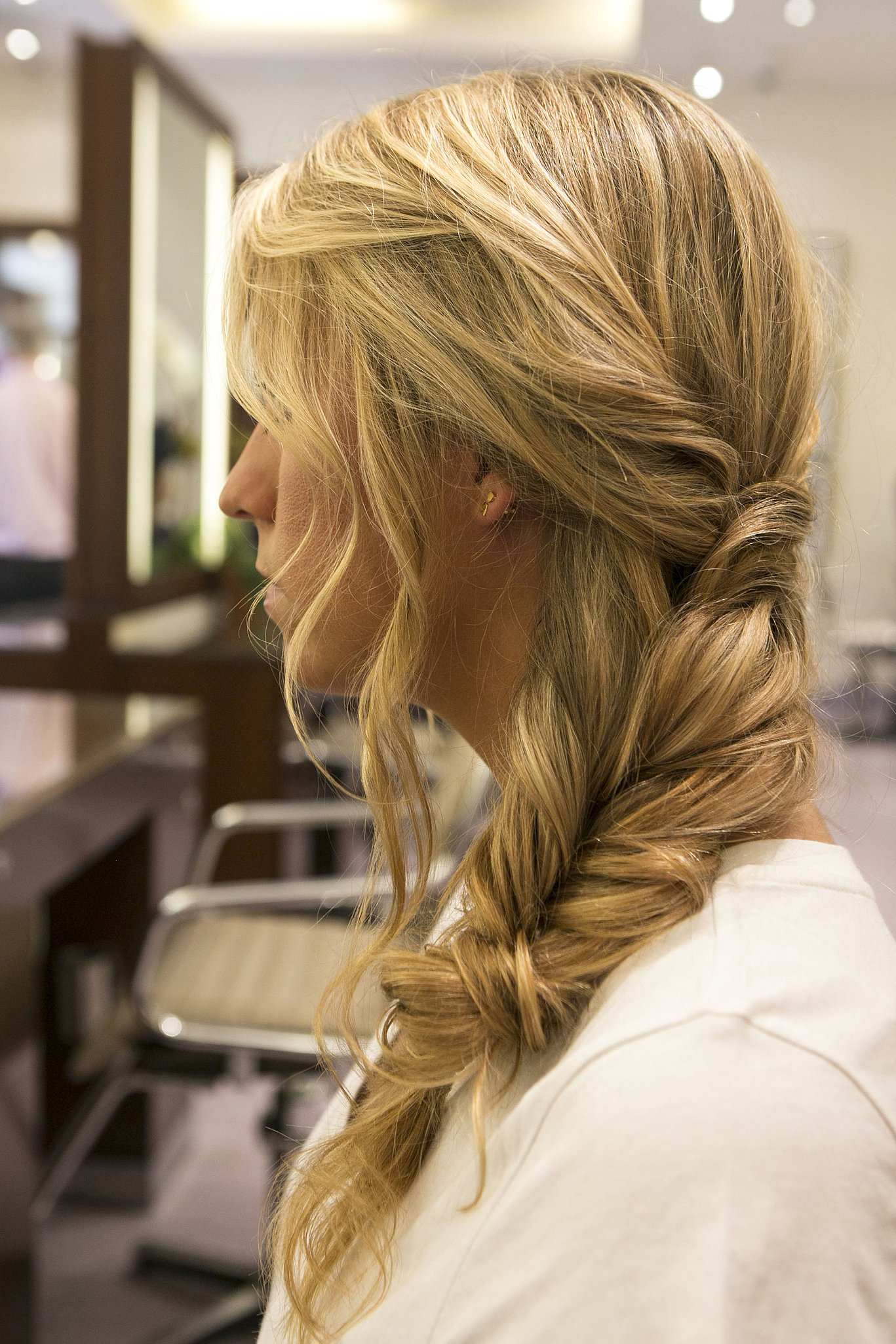 The final look is a boho-chic take on the standard side braid. Plus, get the downloadable step-by-step guide here!