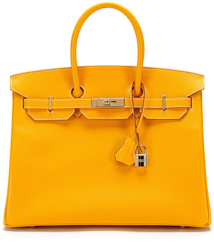Candy Bi-Color Jaune-D'Or Epsom and Feu Interior Birkin 35cm