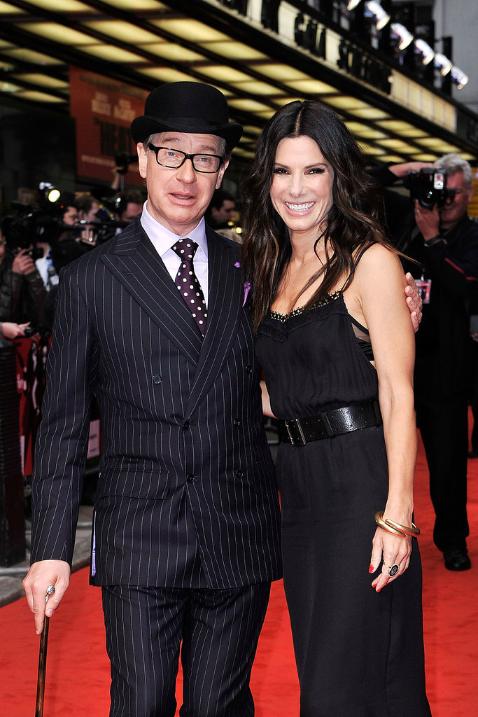 Paul Feig and Sandra Bullock attended the gala screening of The Heat in London on June 13.