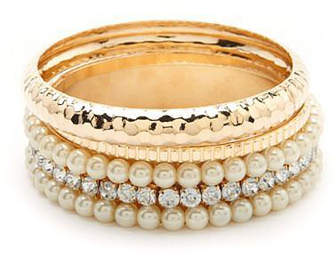 Posh Beaded Bangle Set