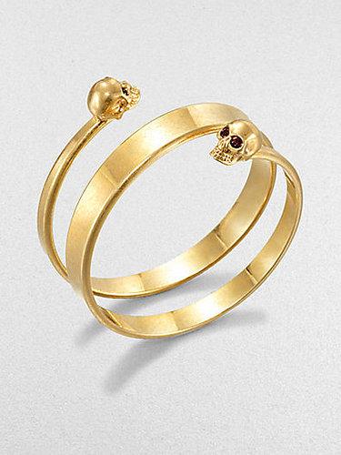 Alexander McQueen New Twin Wrap Cuff Bracelet