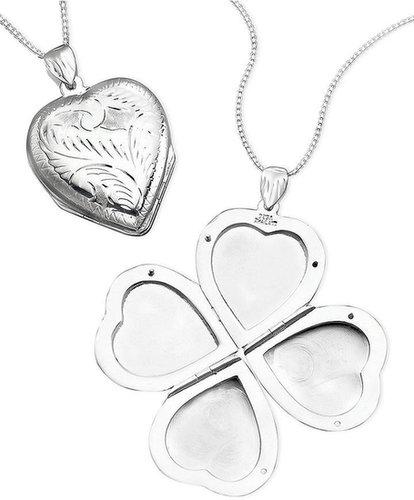 Giani Bernini Necklace, Sterling Silver Heart Locket