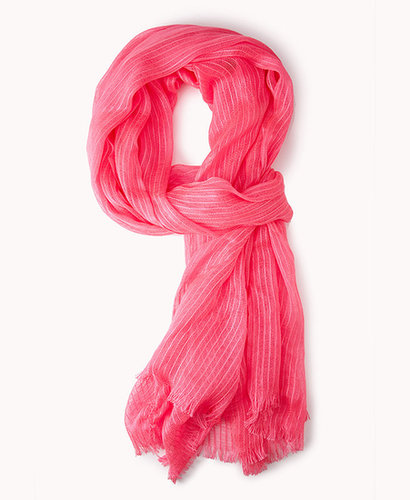 FOREVER 21 Frayed Open-Knit Scarf