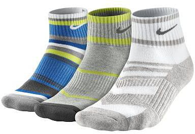 Nike Graphic Quarter Boys' Socks 3 Pair