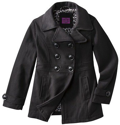 Girls' Wool Peacoat