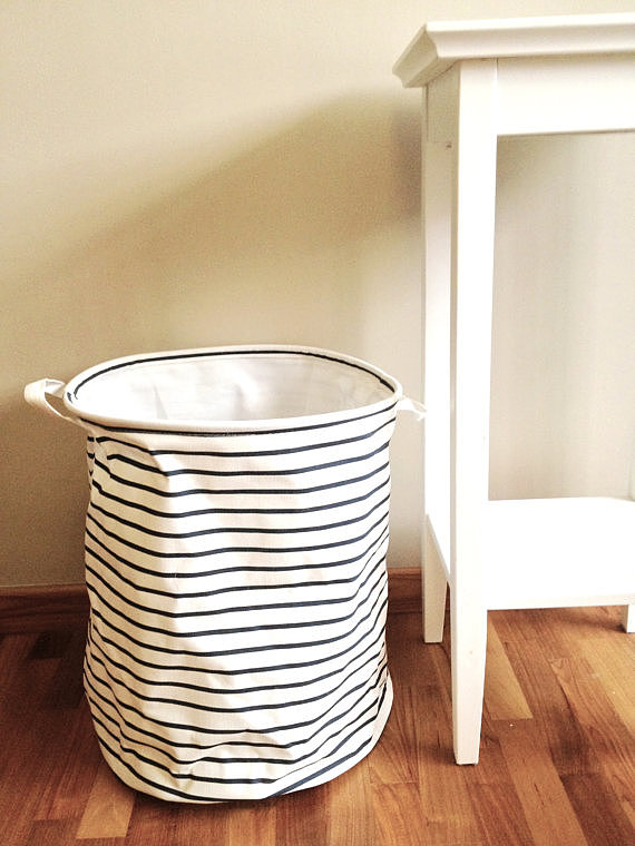 Give laundry a new look with this  nautical storage basket ($21).