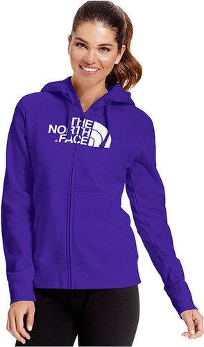 The North Face Top, Half-Dome Logo Fleece Zip-Up Hoodie