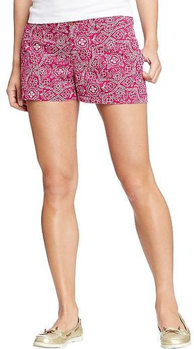 "Women's Printed Cuffed-Twill Shorts (3-1/2"")"
