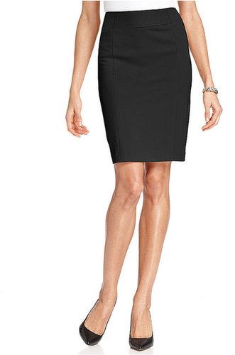 Grace Elements Skirt, Ponte-Knit Pencil