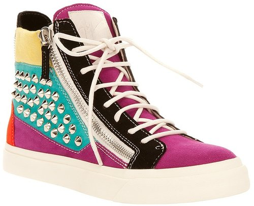Giuseppe Zanotti Design studded zip hi-top trainer