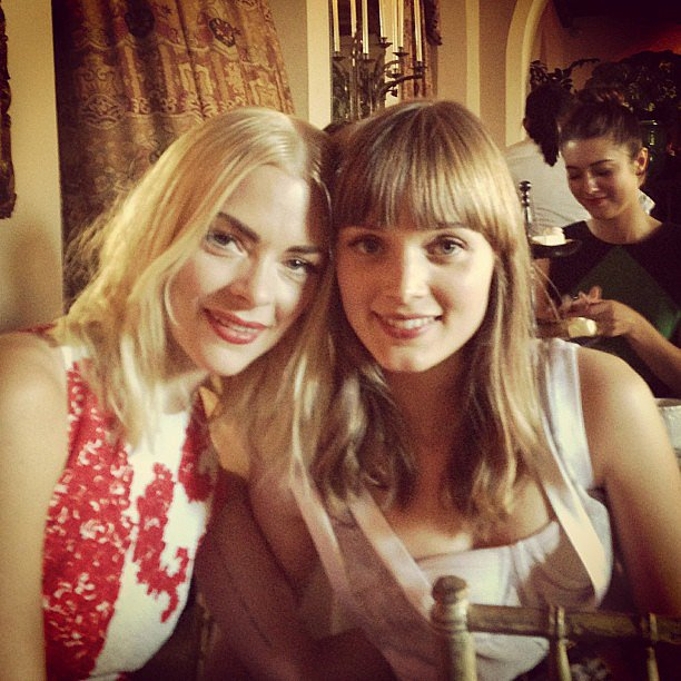 Jaime King posted this stunning flashback photo of herself with Australian actress Bella Heathcote. Source: Instagram user jaime_king