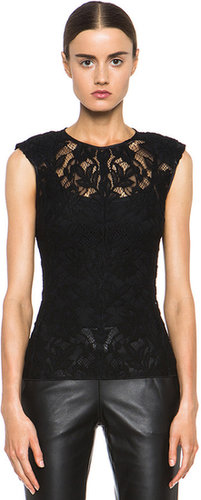 Nina Ricci Lace Top in Black