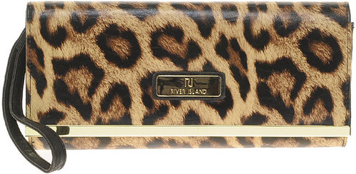 River Island Leopard Simple Clutch