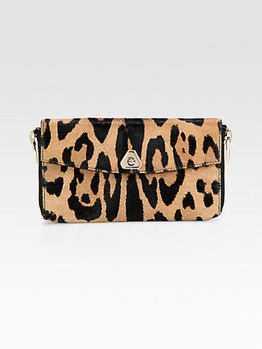 Alexander Wang Leopard-Print Haircalf Continental Wallet