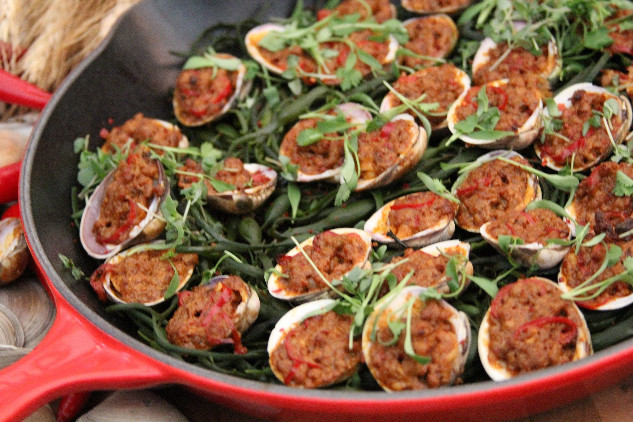Pork and Clams With 3 Chiles and Coconut