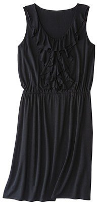Merona® Women's Ruffle Front Elastic Waist Dress - Black