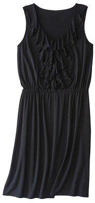 Merona® Women's Ruffle Front Elastic Waist Dress - Black
