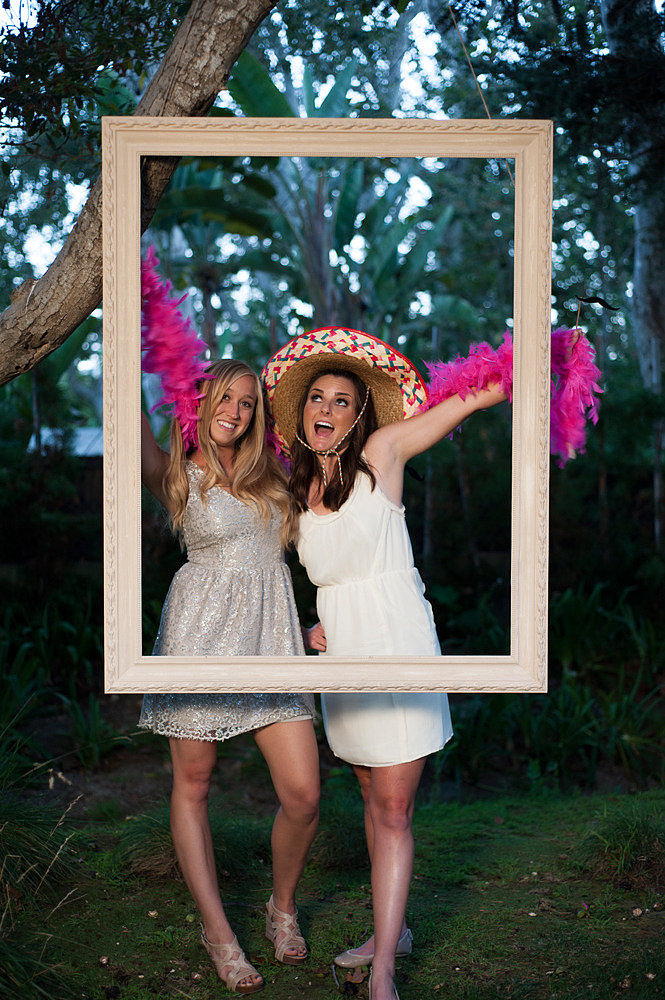 Say Cheese The easiest way to give your guests something fun to do is by having a photo booth at your reception. You can even create your own like at this wedding with just a tripod and a curtained off space or closet. Be sure to stock it full of props and costumes and have copies of the photo stripes made for your guests to bring home as a keepsake. Photo by Karen Wise Photography via