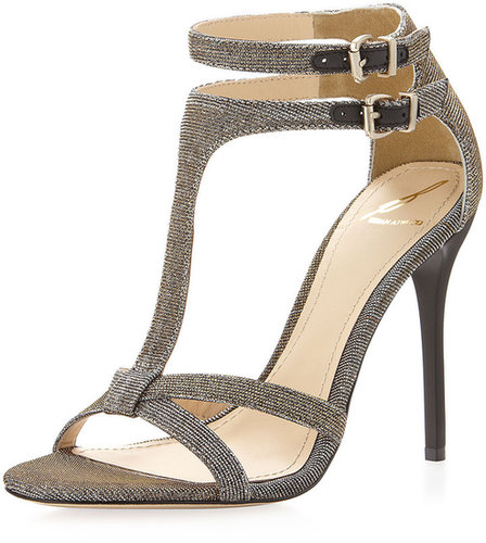 B Brian Atwood Laetitia Mixed-Metallic Sandal