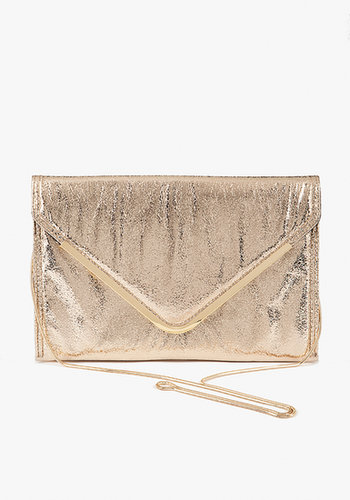 Oversized Metallic Envelope Clutch