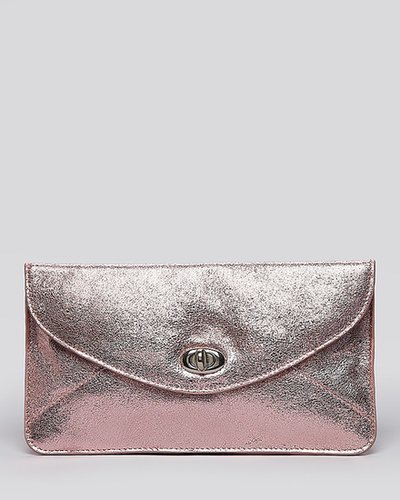 Sorial Envelope Clutch - Metallic Leather