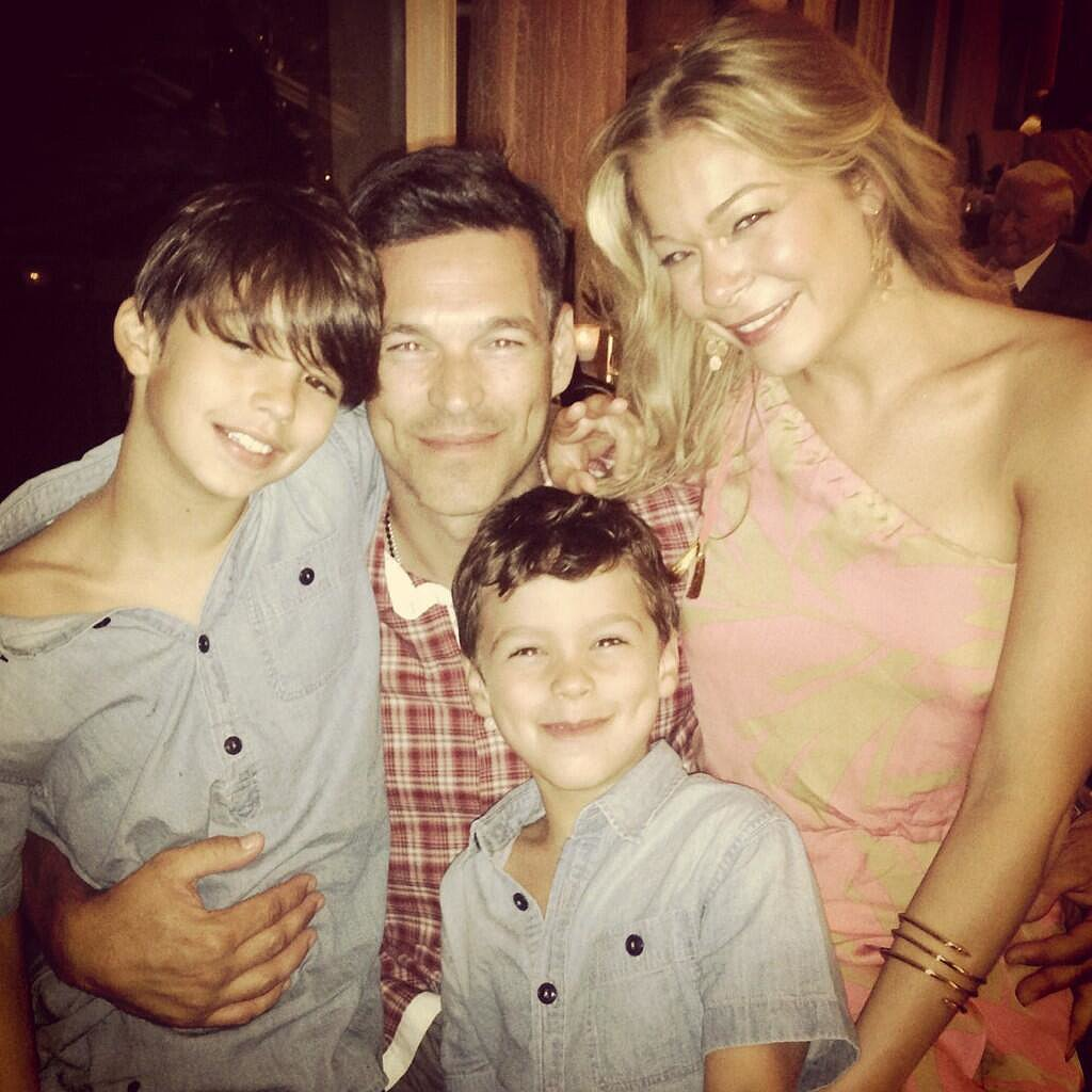 LeAnn Rimes and Eddie Cibrian spent Father's Day with his two boys. Source: Twitter user leannrimes