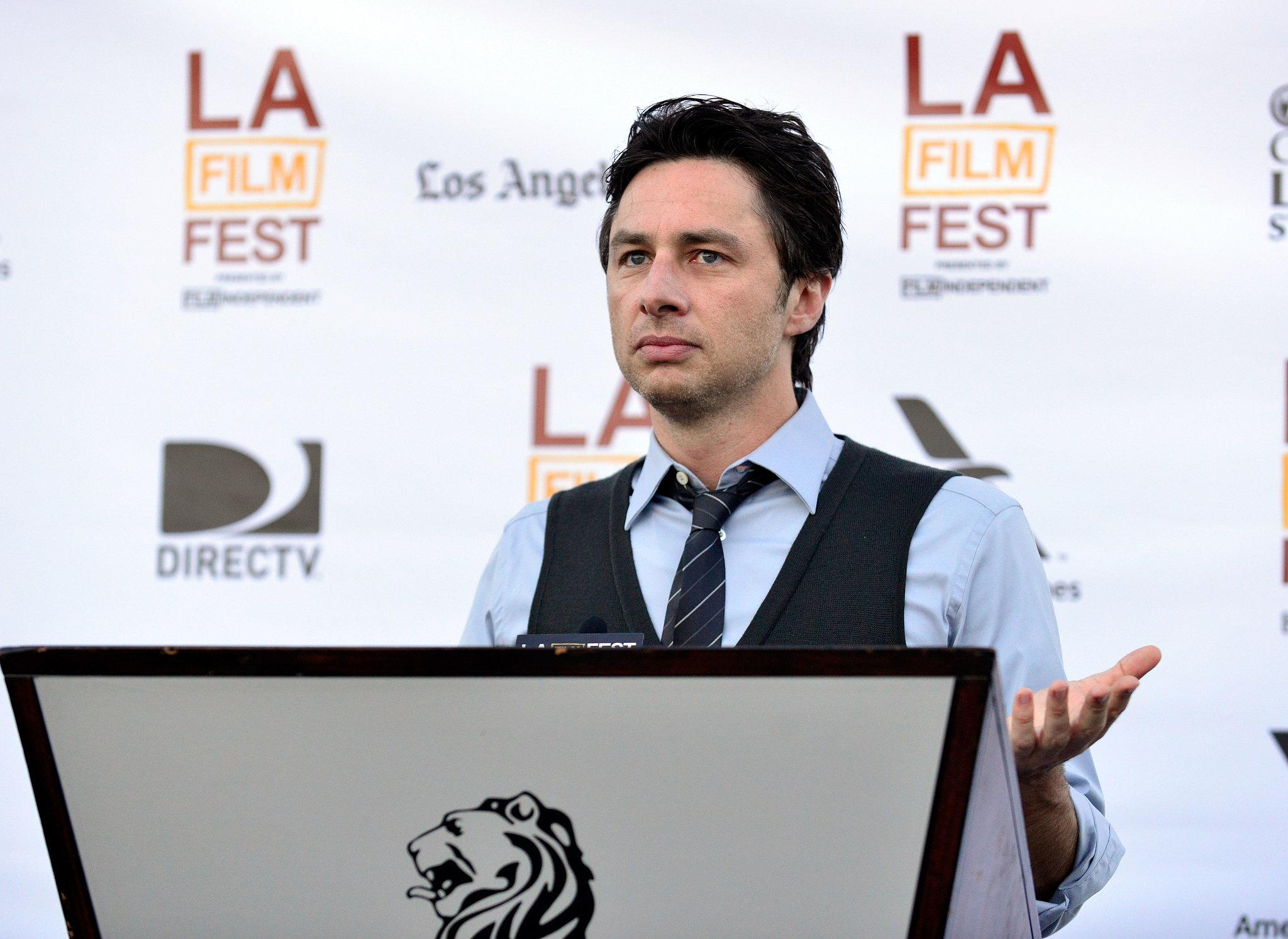 Zach Braff spoke at the filmmaker reception at the LA Film Festival.