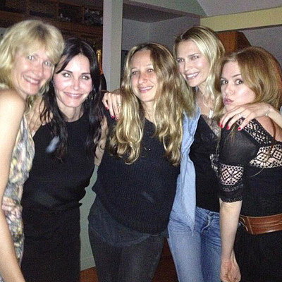 Courteney Cox Celebrates Her Birthday With Isla Fisher