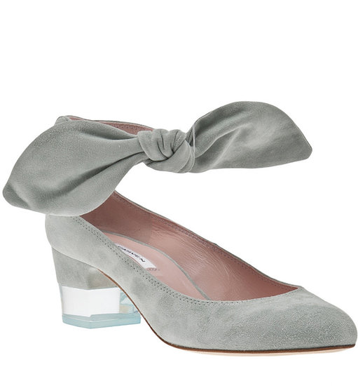 Carven Suede Low Heel Bow Shoe