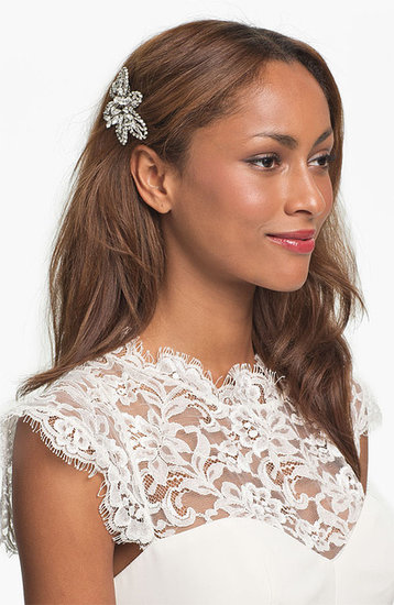 Nina 'Danai' Flower Crystal Hair Comb