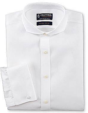 Stafford® Signature No-Iron Cotton Dress Shirt w/French Cuffs