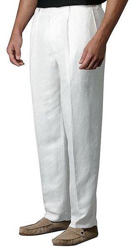 Centro herringbone pleated suit pants